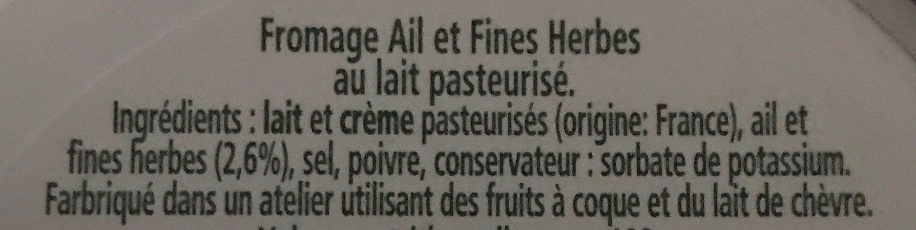 L'original tartare ail & fines herbes - Ingrédients
