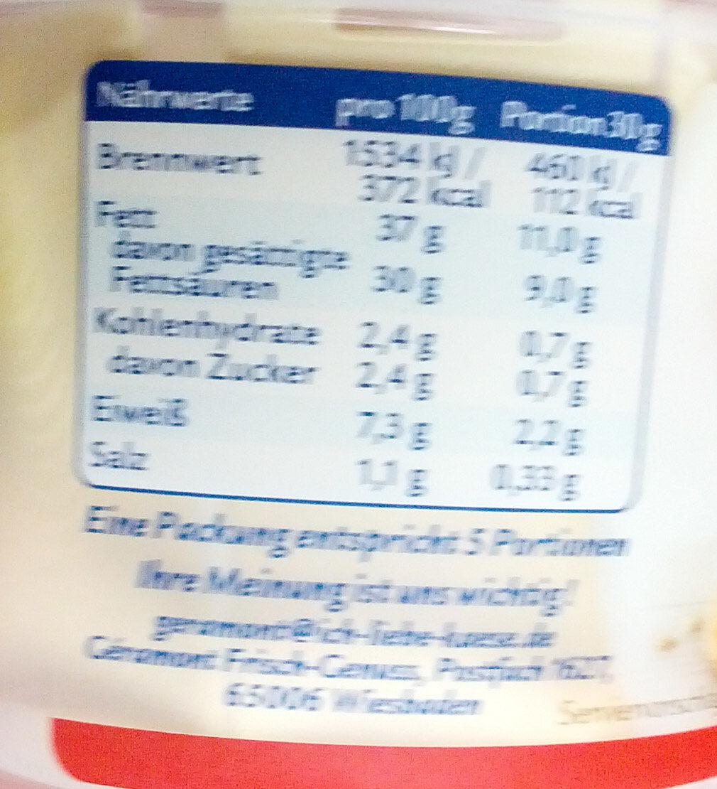 Frisch-Genuss - Nutrition facts