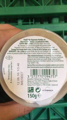 Tartare, Les Créations Fleur de Sel (36,5 % MG) - Informations nutritionnelles - fr