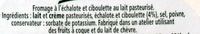 L'original Tartare, Ciboulette & Echalote (Familial) - (34,5 % MG) - Ingrédients - fr