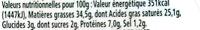 L'original Tartare, Ciboulette & Echalote (Familial) - (34,5 % MG) - Informations nutritionnelles - fr