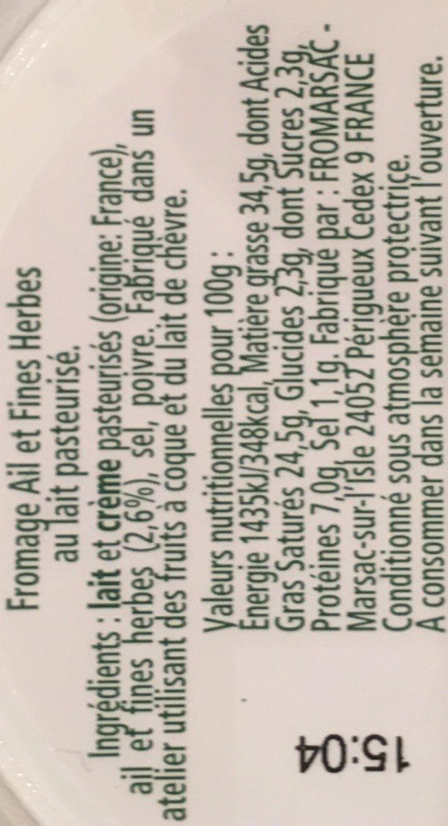 Tartare Ail et Fines Herbes - offre eco - Ingrediënten - fr