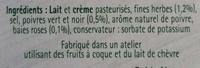 Tartare - Poivre & Fines Herbes - Ingrédients - fr