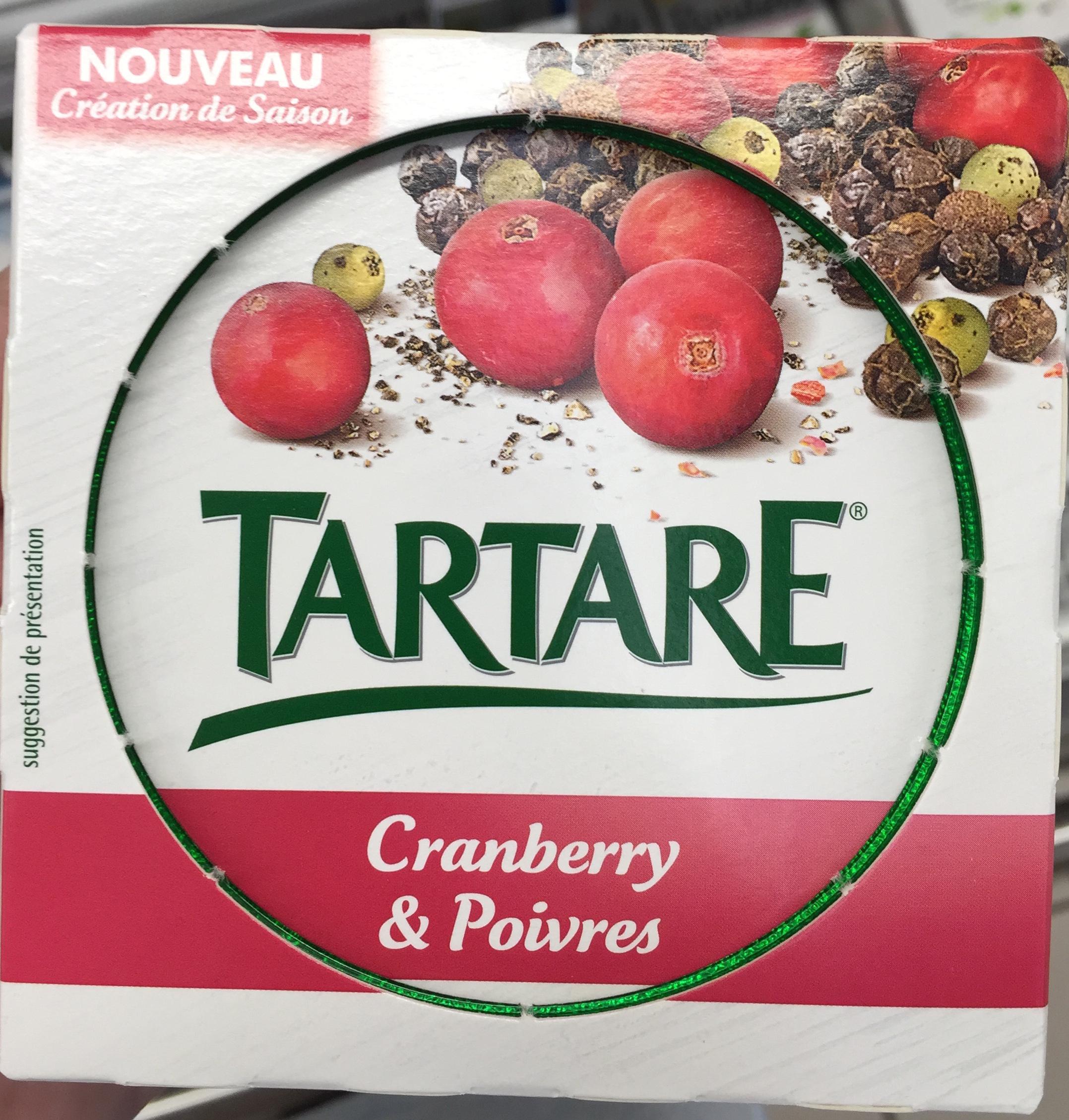 Tartare cranberry & poivres - Produit - fr