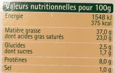 Noix et éclats d'amandes - Informations nutritionnelles - fr