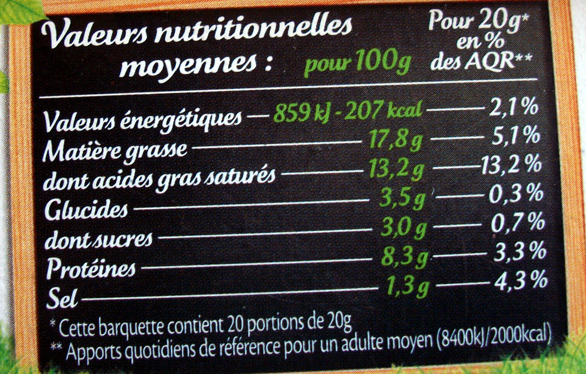 Le Goût Primeur - offre éco - Voedingswaarden - fr