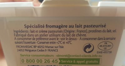 St Môret - format familial - Ingredients - fr