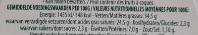 Paturain - Informations nutritionnelles - fr