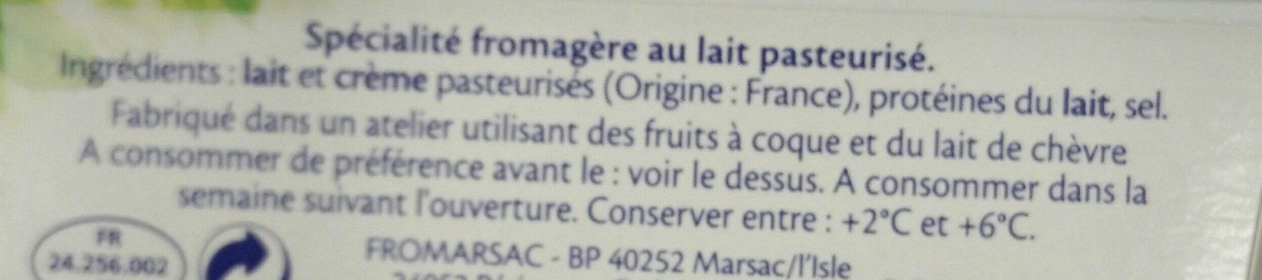 Spécialité fromagère nature (-25% sel) - Ingrediënten - fr