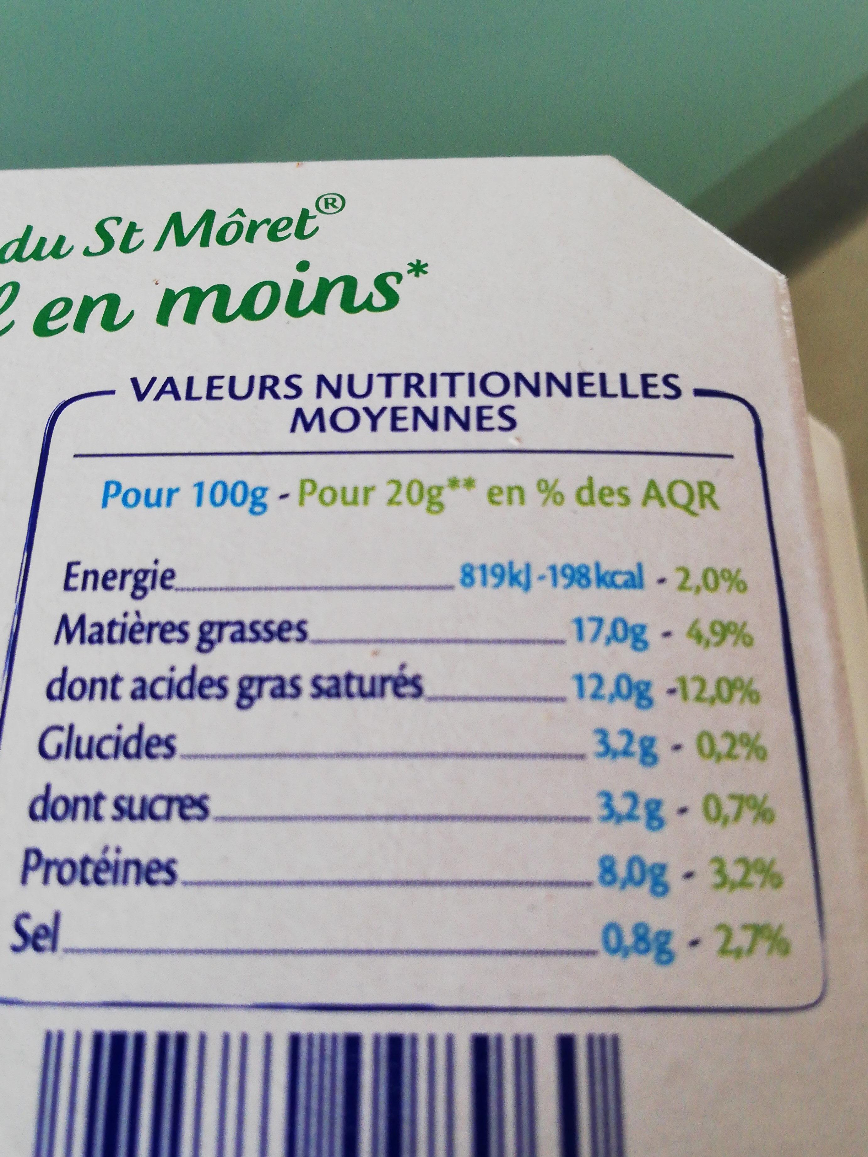 Spécialité fromagère nature (-25% sel) - Voedingswaarden - fr