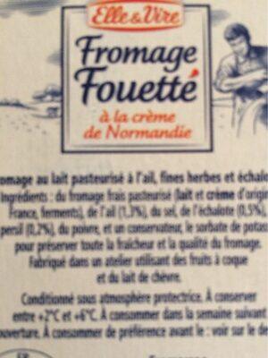 Le fouetté ail et fines herbes - Ingrédients - fr