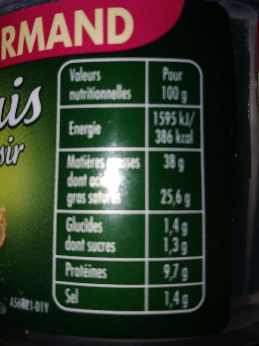 Saint Agur Frais Plaisir - Informations nutritionnelles