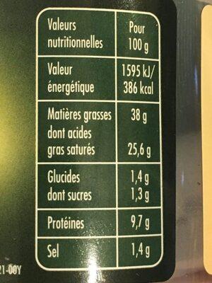 Saint Agur - Frais Plaisir - Informations nutritionnelles