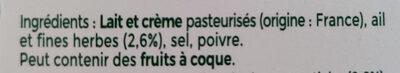 Ail & fines herbes l original - Ingredienti - fr