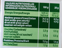 Ail & fines herbes l original - Valori nutrizionali - fr