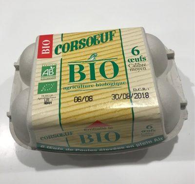 6 Oeufs bio moyen CORSOEUF - Product - fr