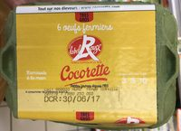 Œufs Label Rouge fermiers Très Gros Cocorette x6 - Product