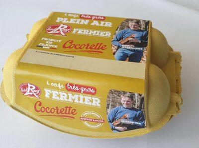 Œufs Label Rouge fermiers Très Gros Cocorette x6 - Nutrition facts