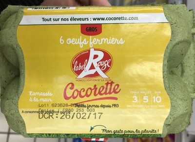 Oeufs ferminer Label Rouge - Product - fr