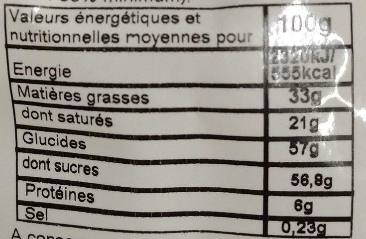 """Moulage """"Mouton Frisette"""" en chocolat blanc ROHAN - Informations nutritionnelles - fr"""