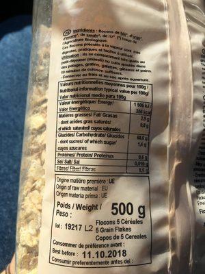 Flocons 5 Cereales - Ingredients