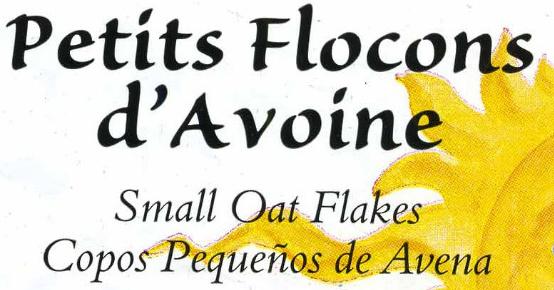 Petits flocons d'avoine - Ingredients