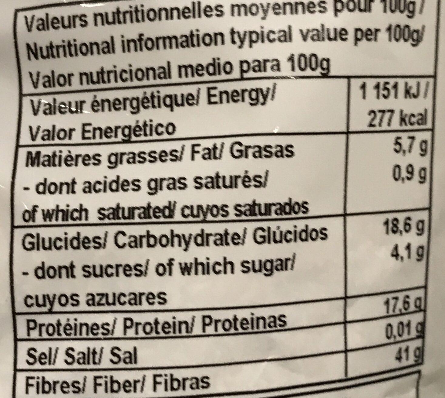 Son de blé - Informations nutritionnelles - fr