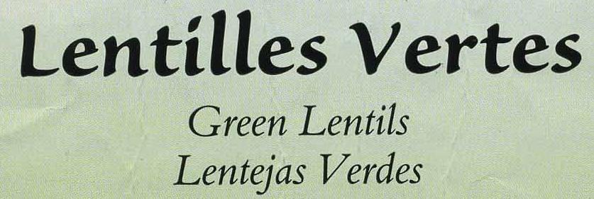 Lentilles vertes - Ingredients - es