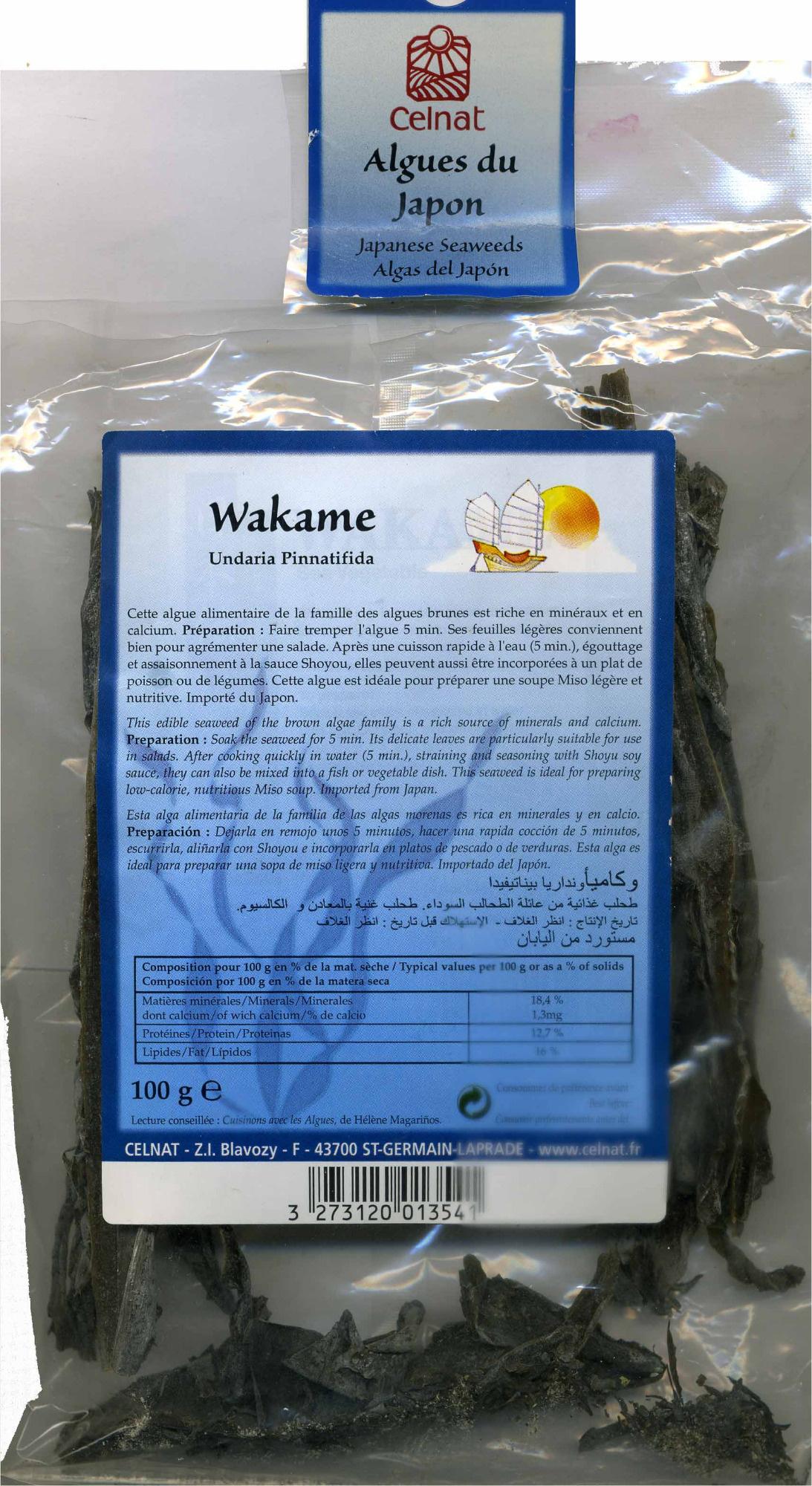 Algas wakame deshidratadas - Producto - es