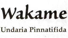 Algas wakame deshidratadas - Ingredientes