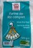 Farine de riz complet - Produit