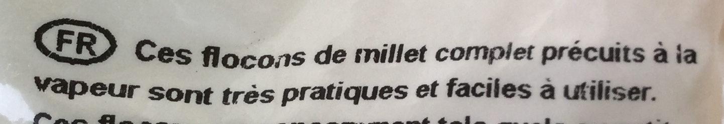 Millet flakes - Ingrédients