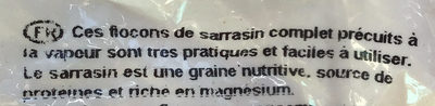 Flocons de sarrasin - Ingrédients