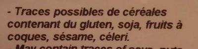 Amarante - Ingrédients