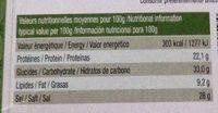 Soupe miso instantanée bio - Nutrition facts - fr