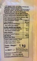 Celnat Riz Rond Blanc 1KG - Ingrédients