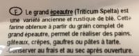 Farine Grand Epeautre Complete - Ingredients