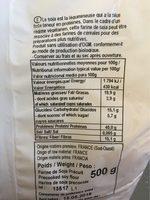 Farine de Soja Précuit - Información nutricional