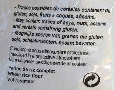 Farine de riz complet - Ingredients - fr
