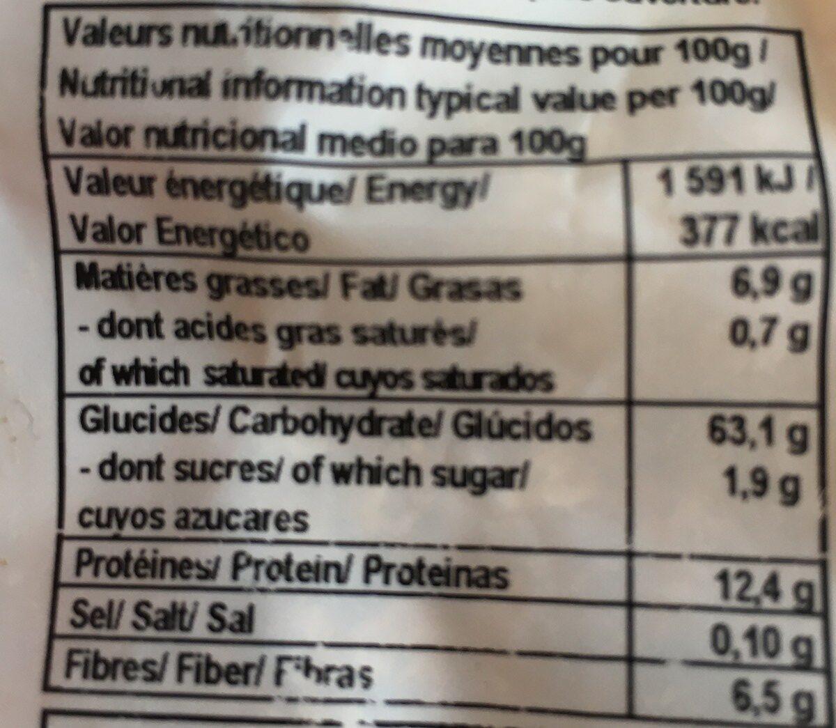 Flocons de Quinoa - Ingredients