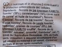 Muesli Antioxydant - céréales - Ingrédients - fr