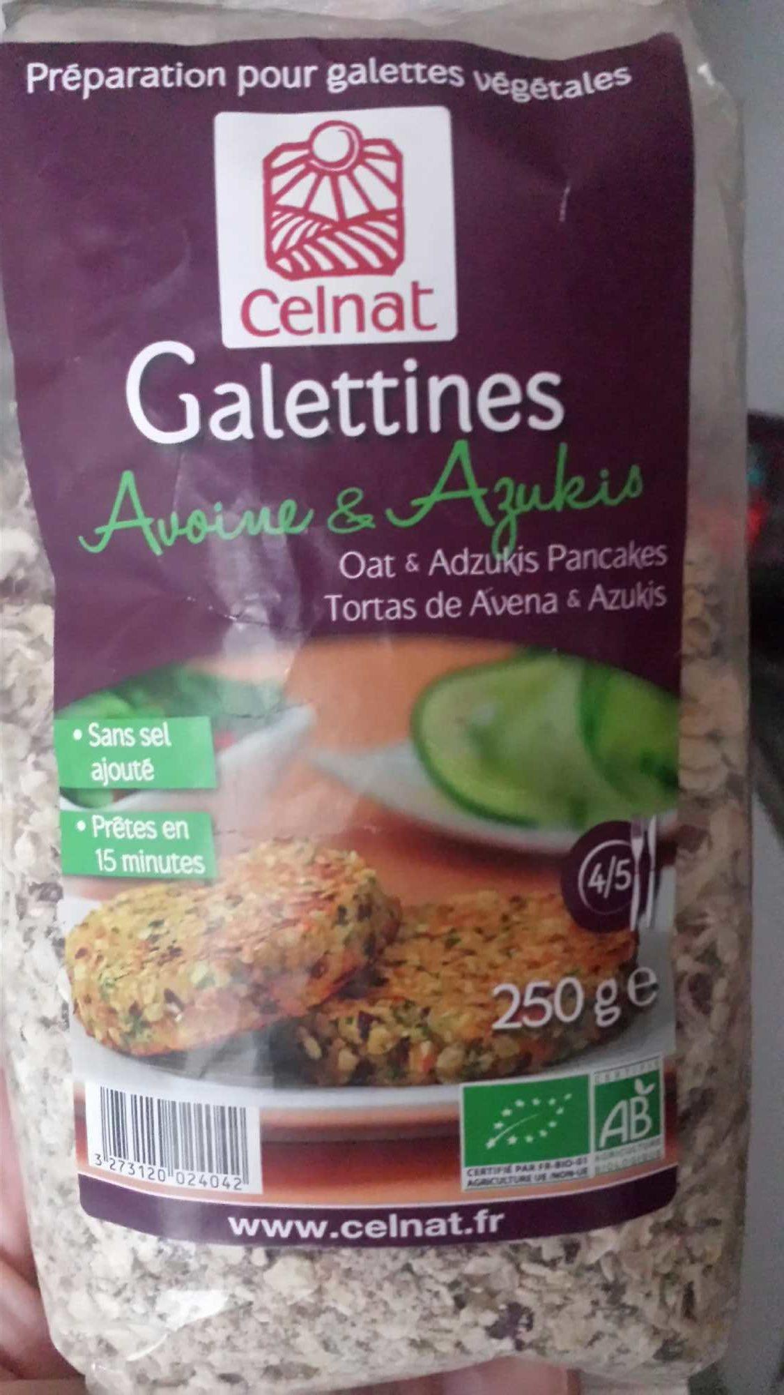 Préparation Galette Avoine Azukis - Produit - fr