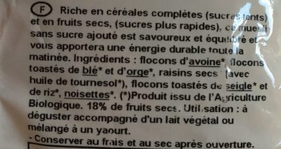 Muesli tradition - Ingrédients - fr