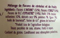 Super Muesli aux fruits - Ingrédients - fr
