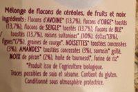 Super muesli fruits et noix - Ingrédients