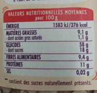 Super muesli fruits et noix - Informations nutritionnelles