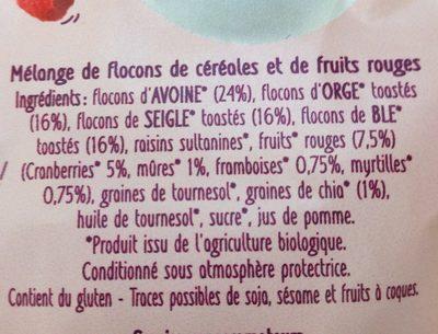 Super Muesli fruits rouges et chia - Ingrédients - fr