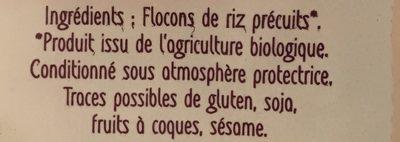Flocons de riz - Ingredienti - fr