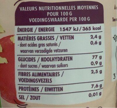 Flocons de riz - Valori nutrizionali - fr