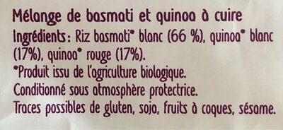 Basmati & duo de quinoa - Ingredients - fr